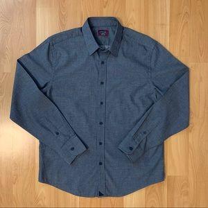 Untuckit men's cotton shirt - navy